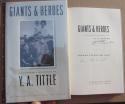 YA Tittle Signed Book Giants & Heroes Giants HOF Quarterback 1st Print