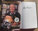 Dan Devine Signed Book Memoirs of a Hall of Fame Coach Notre Dame