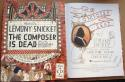 Lemony Snicket Signed Book The Composer is Dead 1st Print Unfortunate Events