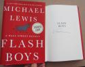 Michael Lewis Signed Book Flash Boys 1st Print autographed Wall Street