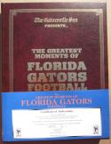 Florida Gators Football Greatest Moments 5x signed book Mathews Bates Brantley Graves Doering