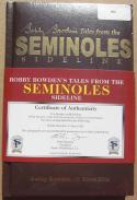 Coach Bobby Bowden signed book Tales from the Seminoles Sidelines Florida State FSU