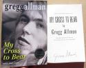 Gregg Allman signed Hard Cover Book My Cross to Bear BAS Beckett Allman Brothers