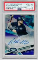 Mitch Haniger Mariners 2017 Topps Chrome Purple auto signed RC PSA 10 /250