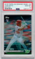 Juan Soto Nationals 2018 Topps On Demand 3D Motion RC PSA 10