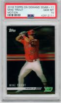 Mike Trout Angels 2018 Topps On Demand 3D Motion PSA 10