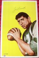 Joe Namath signed 12x19 1965 Topps Rookie Card Print photo Jets PSA/DNA auto