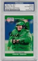 Buddy Ryan signed 1990 Pro Set #253 Rookie Card RC PSA/DNA Eagles Bears