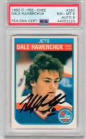 Dale Hawerchuk signed 1982 OPC Rookie Hockey Card PSA 8 auto PSA/DNA 9 Jets
