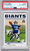 Eli Manning signed 2004 Topps #350 Rookie Card auto RC PSA/DNA Giants