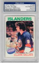 Clark Gillies signed 1975 Topps Rookie Hockey Card PSA/DNA auto RC Islanders