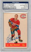 Bert Olmstead signed 1953 Parkhurst Hockey Card PSA/DNA auto Canadiens