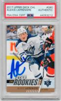 Alexis Lafreniere signed 2017 Upper Deck CHL Star Rookies Card PSA/DNA auto