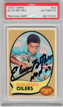 Elvin Bethea signed 1970 Topps #43 Rookie Card auto RC PSA/DNA Oilers