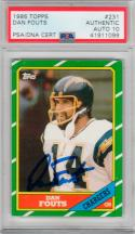 Dan Fouts signed 1986 Topps #231 Card auto PSA/DNA 10 Chargers