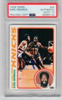 Earl Monroe signed 1978-79 Topps Basketball Card #45 PSA/DNA auto 10 Knicks Pearl