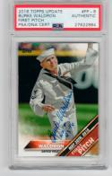 Burke Waldron signed 2016 Topps Update First Pitch PSA/DNA World War II WWII auto