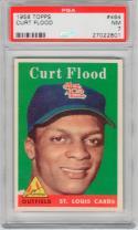 1958 Topps Curt Flood Rookie Card #464 Card PSA 7 NM Cardinals
