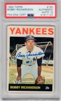 Bobby Richardson signed 1964 Topps baseball card #190 PSA/DNA Graded 10 auto Yankees