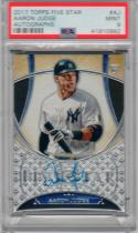 2017 Topps Five Star Autographs Aaron Judge Rookie Card RC PSA Mint 9
