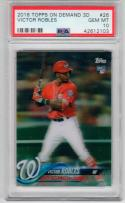 Victor Robles Nationals 2018 Topps On Demand 3D RC PSA 10 only 269 made