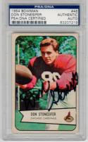 Don Stonesifer signed 1954 Bowman Football #48 PSA/DNA auto Cardinals Northwestern