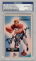 Don Stonesifer signed 1955 Bowman Football #9 PSA/DNA auto Cardinals Northwestern
