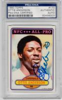 Ottis Anderson signed 1980 Topps #170 Rookie Card RC PSA/DNA Giants Super Bowl XXV MVP
