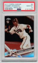 Dansby Swanson Braves 2017 Topps Chrome Sepia Refractor Rookie Card RC PSA 10