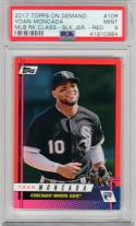 Yoan Moncada 2017 Topps On-Demand Red /25 Rookie Card RC PSA 9 White Sox