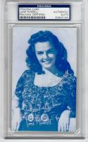 Jane Russell signed Exhibit Card PSA/DNA Slabbed autograph
