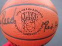1969-70 1970 Knicks 9x team signed Basketball STEINER Holzman DeBusschere Reed