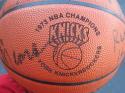 1972-73 1973 Knicks 14x team signed Basketball STEINER Holzman DeBusschere Reed