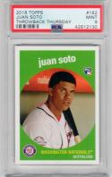 Juan Soto 2018 Topps Throwback Thursday 1959 design RC PSA 9