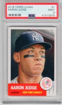 Aaron Judge Yankees 2018 Topps Living Set #1 1953 Design PSA 9