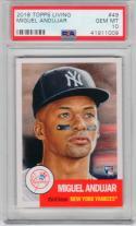 Miguel Andujar Yankees 2018 Topps Living Set Rookie Card #49 1953 Design PSA 10