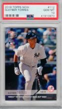 Gleyber Torres Yankees 2018 Topps Now Rookie Card #112 MLB Debut PSA 10