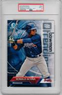 Ronald Acuna Braves 2018 Bowman Trending Chrome Rookie Card 5x7 PSA 9 Braves /49