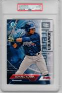 Ronald Acuna Braves 2018 Bowman Trending Chrome Rookie Card 5x7 PSA 10 Braves /49