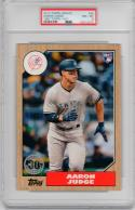 Aaron Judge Yankees 2017 Topps 1987 30th Anniversary Rookie Card 5x7 PSA 8 /49