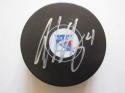 Adam Clendening signed Rangers Hockey Puck Beckett BAS Authentic auto