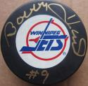 Bobby Hull signed Winnipeg Jets Hockey Puck Beckett BAS Authentic auto #9 ins