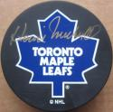 Howie Meeker signed Maple Leafs Hockey Puck PSA/DNA auto
