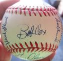 1991 Braves NL Champs team signed Baseball PSA/DNA 23 Auto Ball Deion Cox Smoltz Glavine