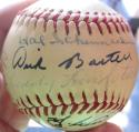 New York Giants signed Baseball 21 signatures 9 HOFers PSA/DNA Marquard Lindstrom Kelly Terry Hubbell Irvin Wynn