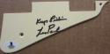 Les Paul signed Les Paul Model Guitar Pick Guard Pickguard Beckett BAS Keep Pickin