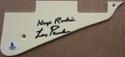 Les Paul signed Les Paul Model Guitar Pick Guard Pickguard Beckett BAS Keep Rockin inscription auto