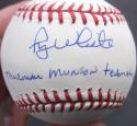 Roy White Yankees single signed MLB Baseball Ball PSA/DNA Thurman Munson Teammate inscription