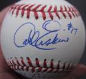 Carl Erskine Dodgers single signed Baseball Ball Jackie Robinson insc PSA/DNA