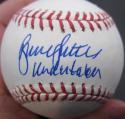 Bruce Sutter Cardinals single signed Baseball Ball Undertaker inscript PSA/DNA